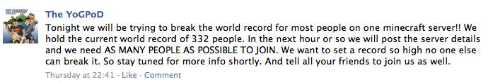 The Yogscast Minecraft World Record 09-10-2011 (1/6)